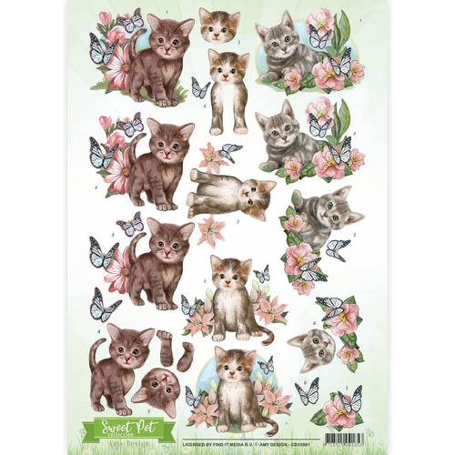 Amy Design- 3d knipvel- Sweet Pet Cats: CD10961