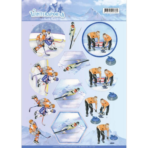 Jeanine's Art- 3d Knipvel- Ice Hockey: CD11029