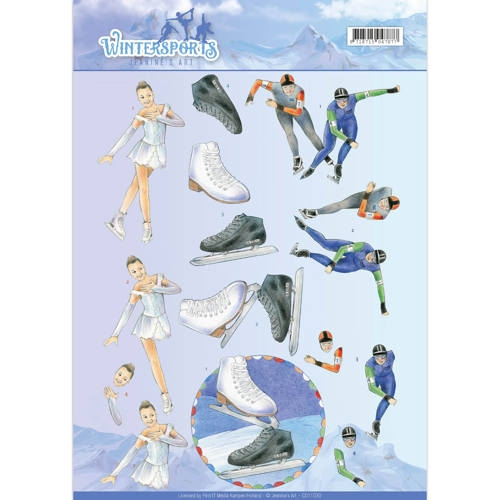 Jeanine's Art- 3d Knipvel- Ice Skating: CD11030