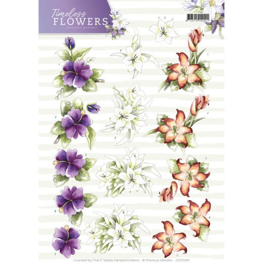Precious Marieke- 3D Knipvel- Timeless Flowers- Lillies: CD11085