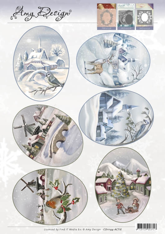Amy Design- 3d Topper- Winter Landscapes: CD11144