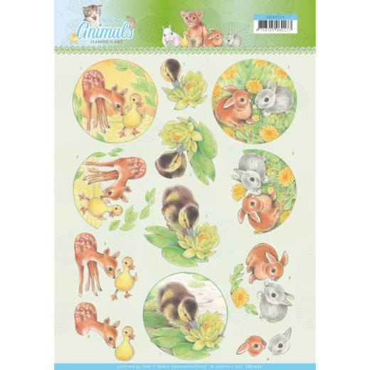 Jeanine's Art- 3D Knipvel- Young Animals- Ducklings and Rabbits: CD11272