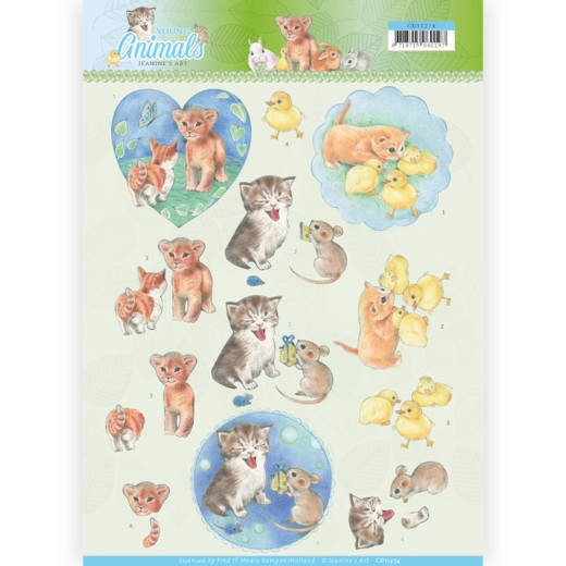 Jeanine's Art- 3D Knipvel- Young Animals- Kittens: CD11274