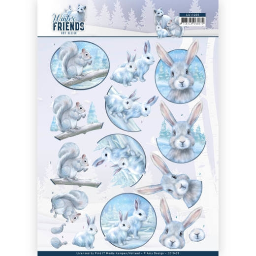 Amy Design- 3D Knipvel- Winter Friends- Arctic Friends: CD11405