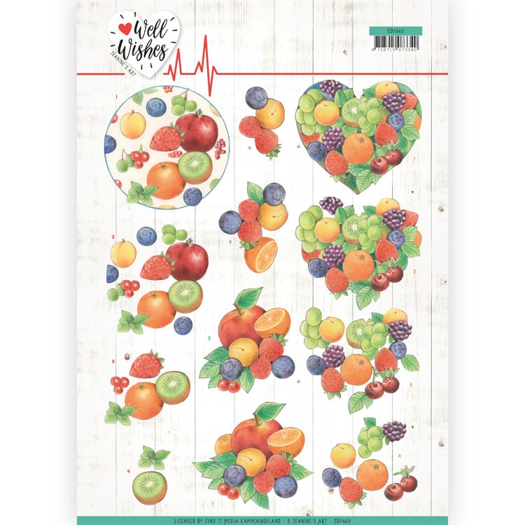 Jeanine's Art- 3D  Knipvel- Well wishes- Fruits: CD11460