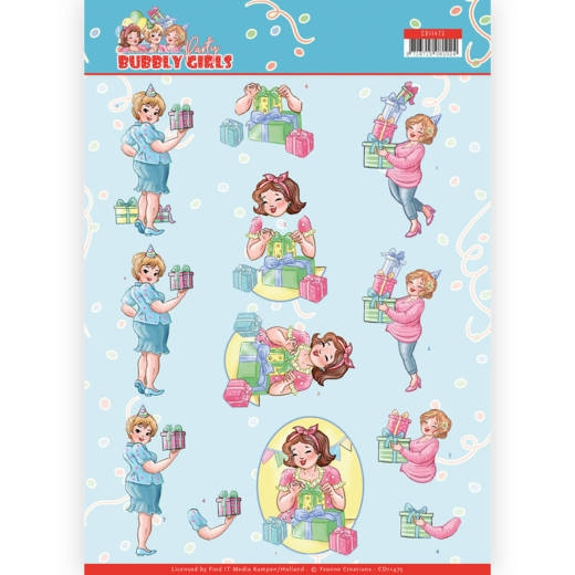 Yvonne Creations- 3D Knipvel- Bubbly Girls- Decorating: CD11475