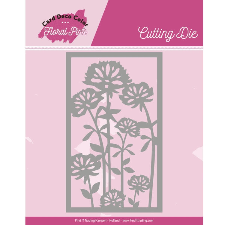 Yvonne Craetions- Dies- Floral Pink Frame: CDCCD10003