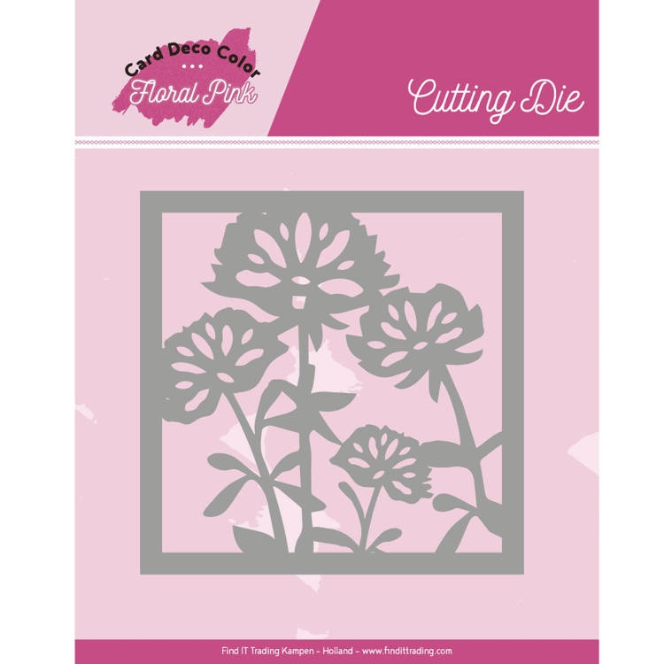 Yvonne Craetions- Dies- Floral Pink Square: CDCCD10005