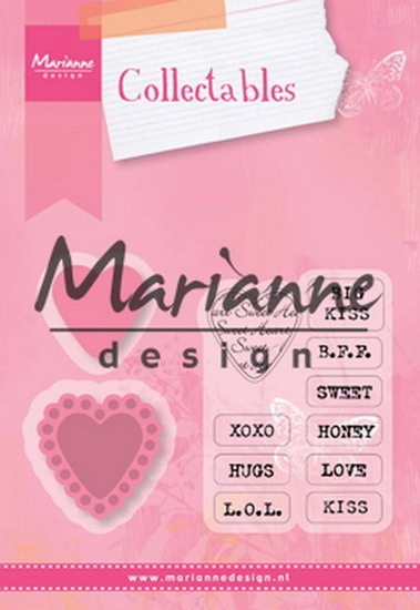Marianne Design- SALE- Collectables hearts: COL1307