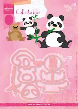 Marianne Design- Collectables- Eline's Panda & Bear; COL1409