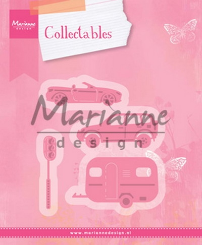 Marianne Design- Collectables- Village decoration set 3(cars); COL1435