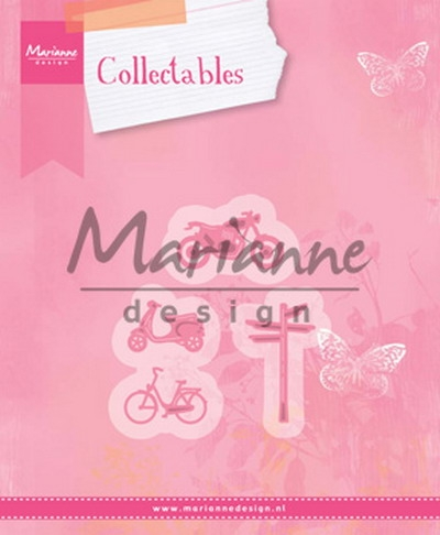Marianne Design- Collectables- Village decoration set 4 (Bicycle); COL1436