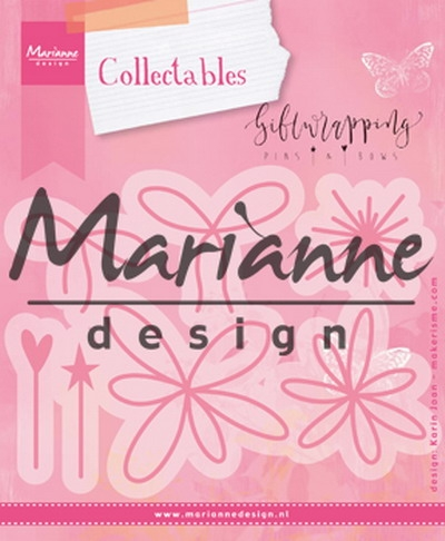 Marianne Design- Collectables- Giftwrapping- Karen's pins & bows: COL1441