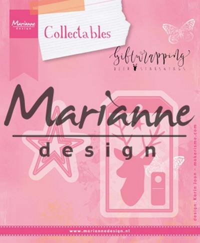 Marianne Design- Collectables- Giftwrapping- Deer, Star & Tag: COL1442