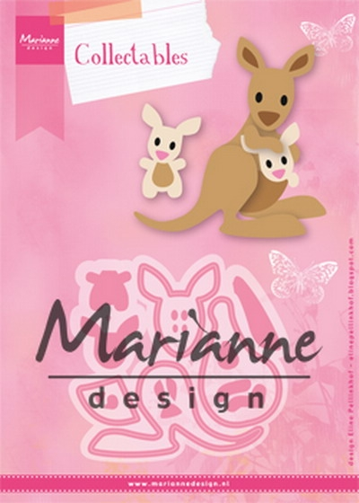 Marianne Design- Collectables- Eline's Kangaroo & Baby: COL1446