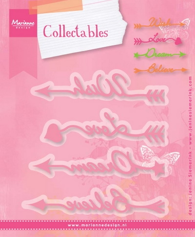 Marianne Design- Collectables- Arrow Sentiments: COL1458