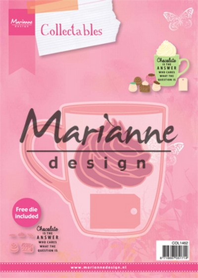 Marianne Design- Collectables- Hot Chocolate Mug inclusief GRATIS COL1366: COL 1462