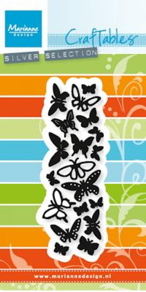 Marianne Design- Craftables- Punch die Butterflies: CR1354