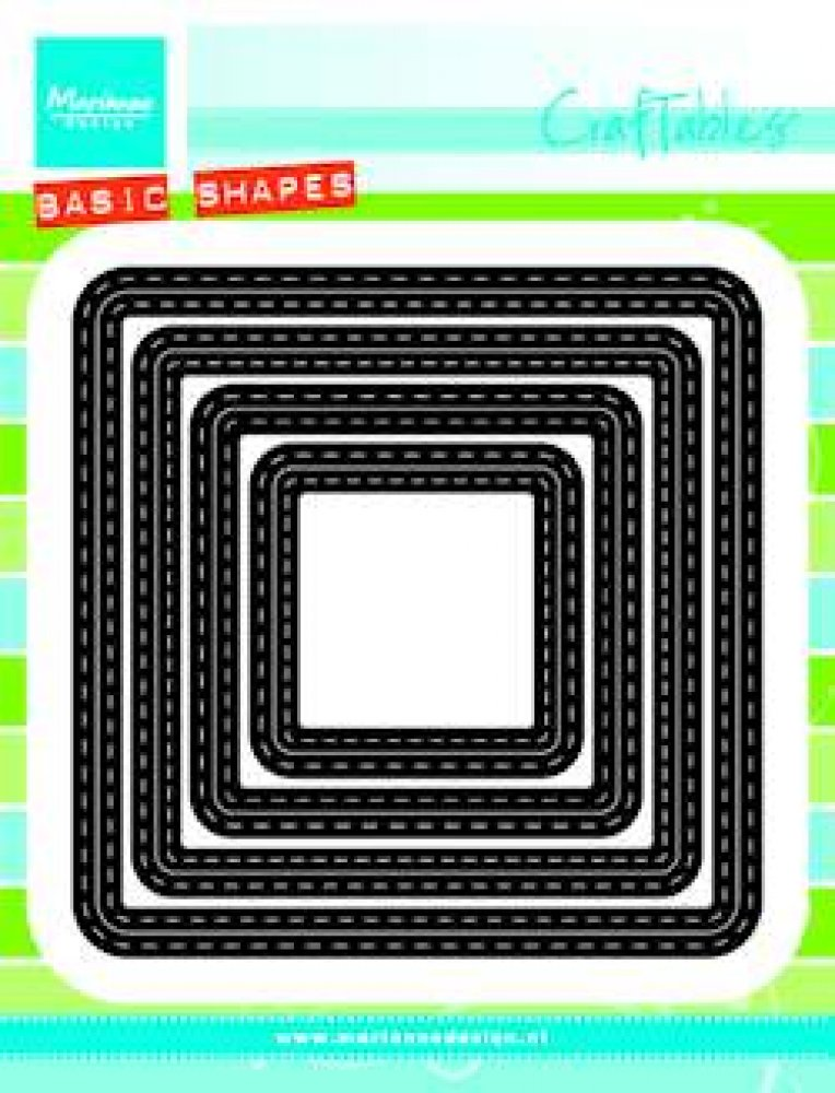 Marianne Design- Craftables- Basic Passe Partouts Squares: CR1359