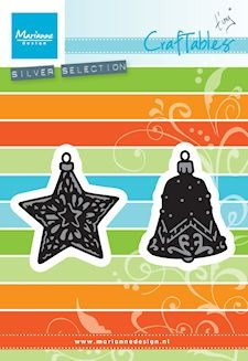 Marianne Design- Craftables- Tiny's ornaments Star & Bell: CR1382
