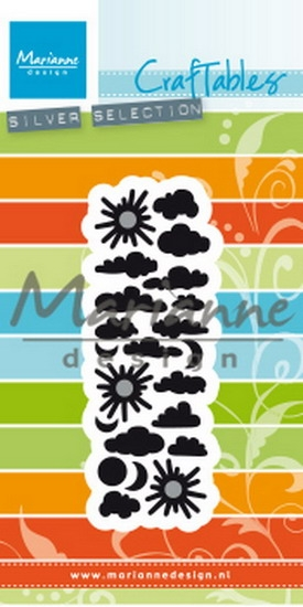 Marianne Design- Craftables- Punch die clouds: CR1459