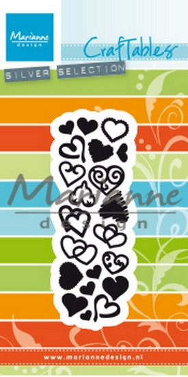 Marianne Design- Craftables- Punch die Sweet hearts: CR1460