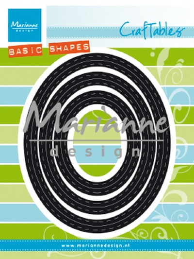Marianne Design- Craftables- Basic pptouts ovals: CR1467