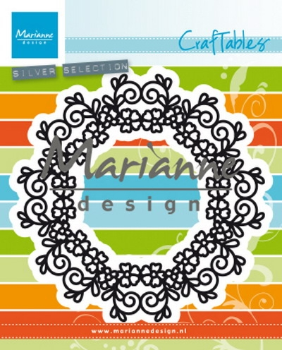 Marianne Design- Craftables- Floral Doily: CR1470