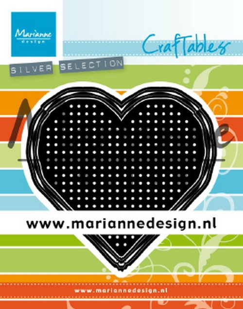 Marianne Design- Craftables- Cross stitch Heart: CR1482