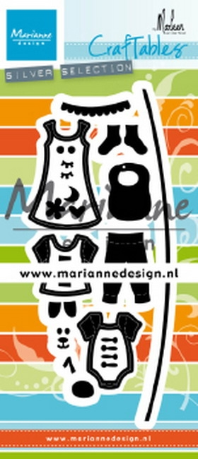 Marianne Design- Craftables- Clothesline by Marleen: CR1502