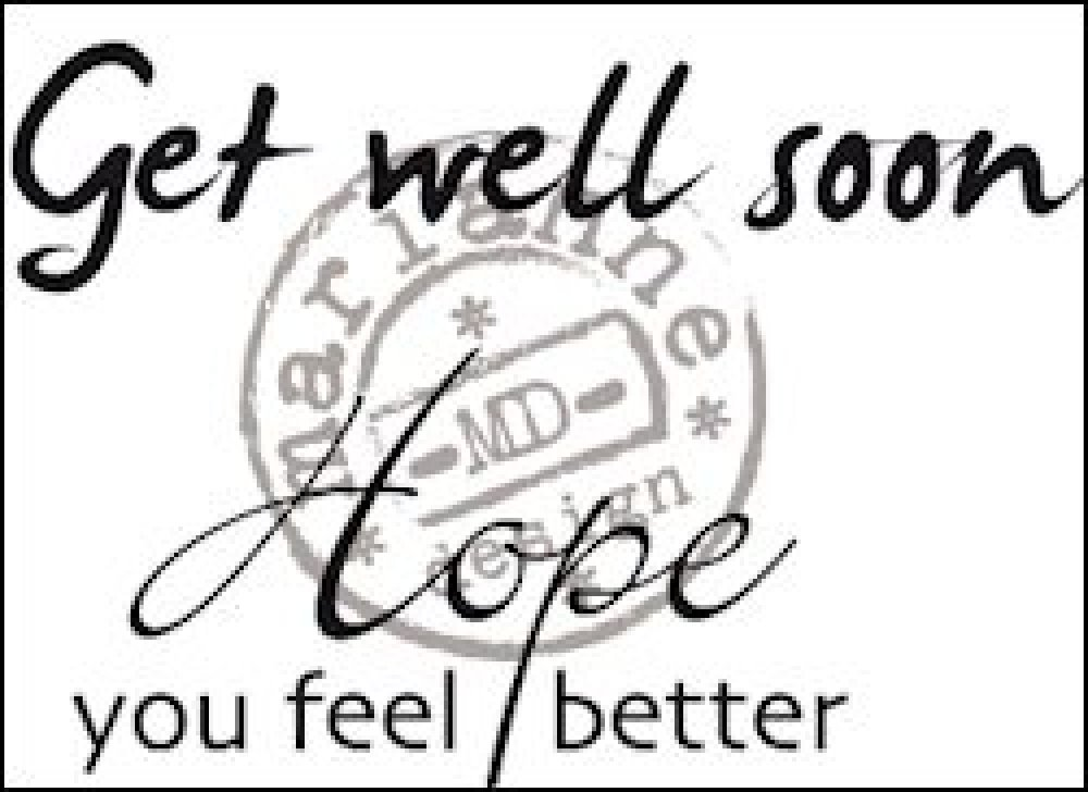Clearstamp Tekst-Get well soon: CS0895