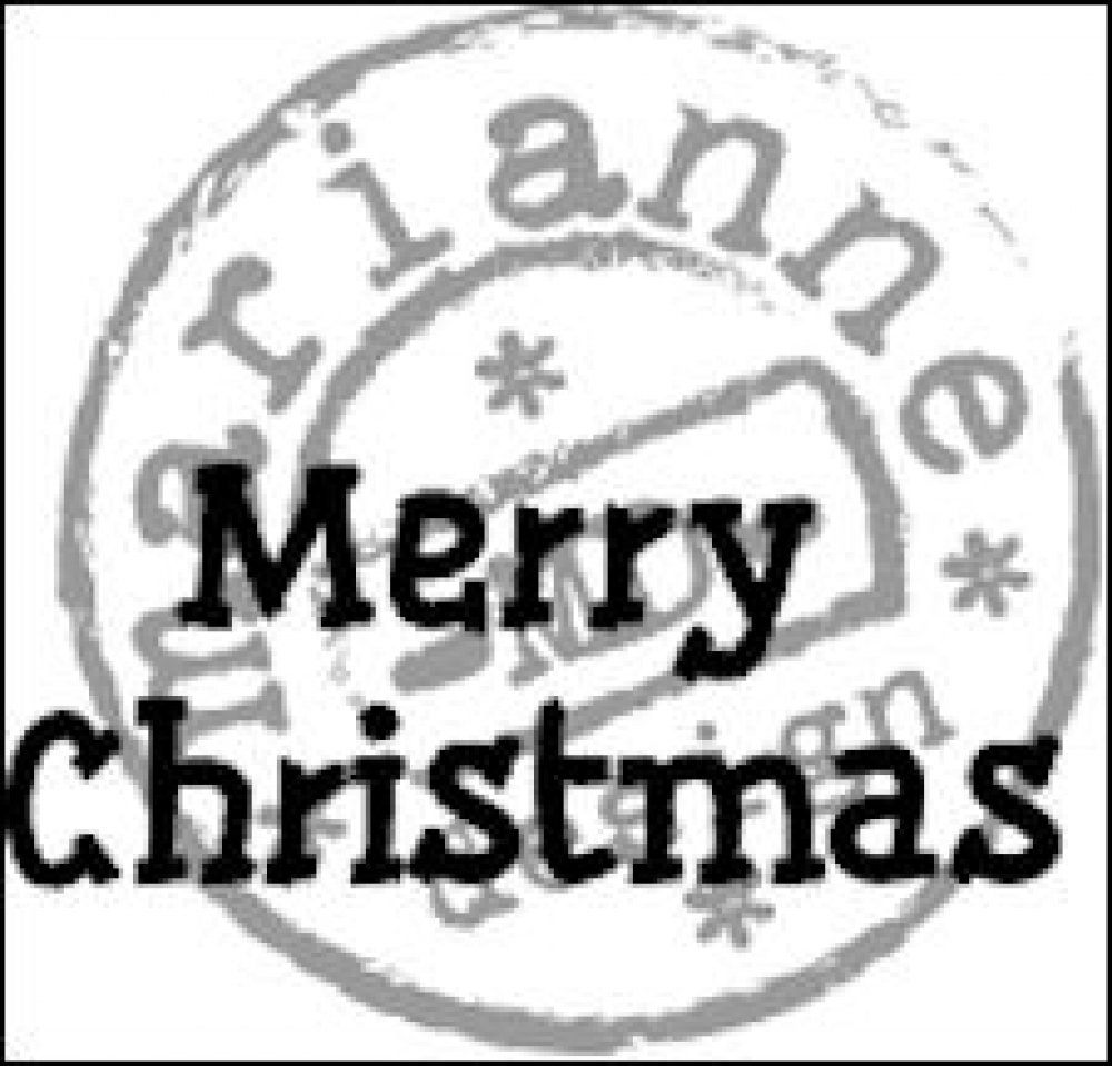 Marianne Design, Clear Stamp Merry Christmas: CS0896