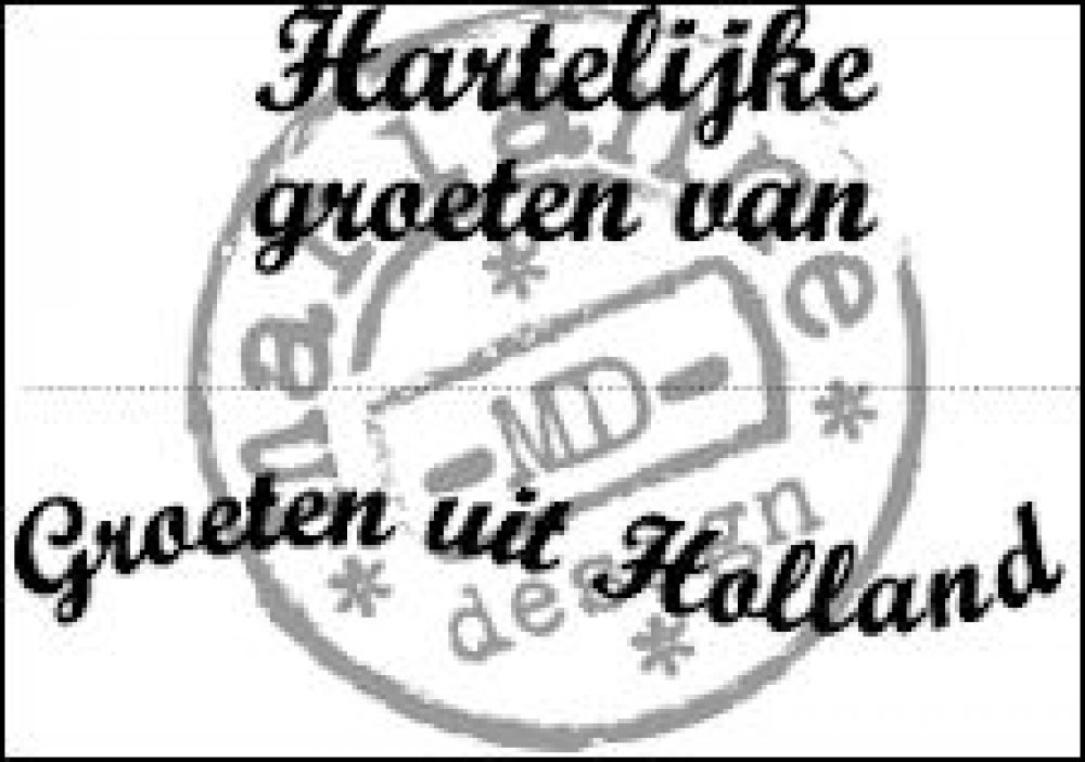 Marianne Design, Clear Stamp Groeten uit Holland: CS0898
