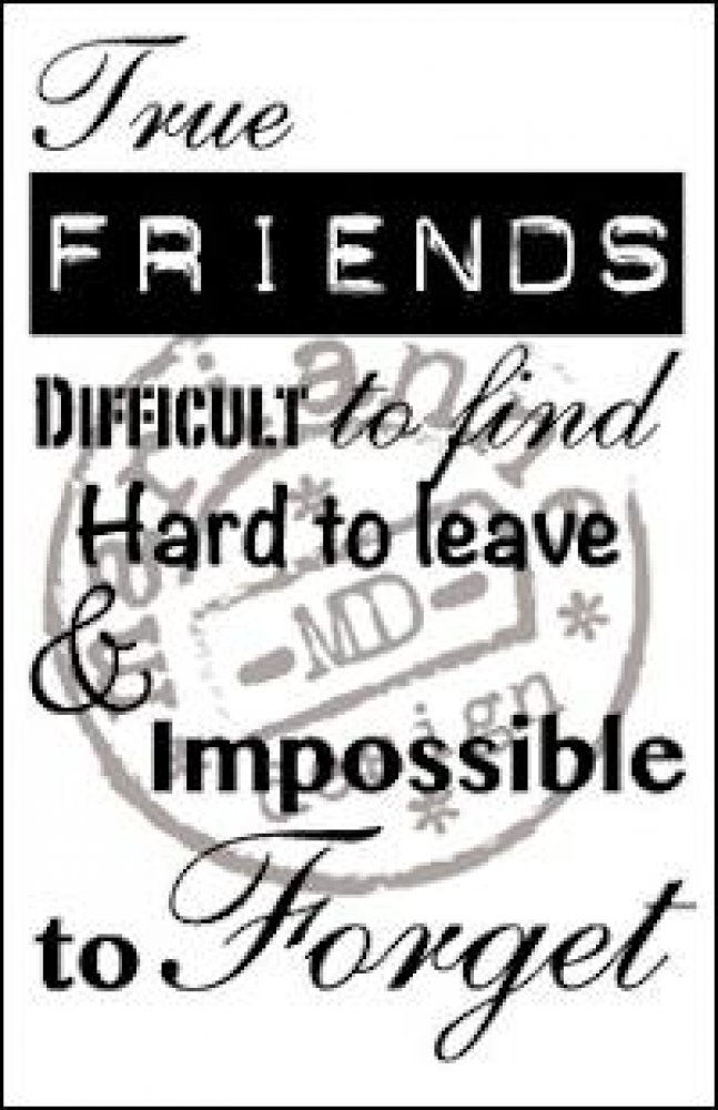 Marianne Design- Stamp True Friends: CS0900
