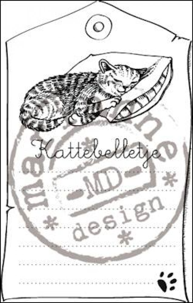 Marianne Design- Clear stamp Kattebelletje: CS0915