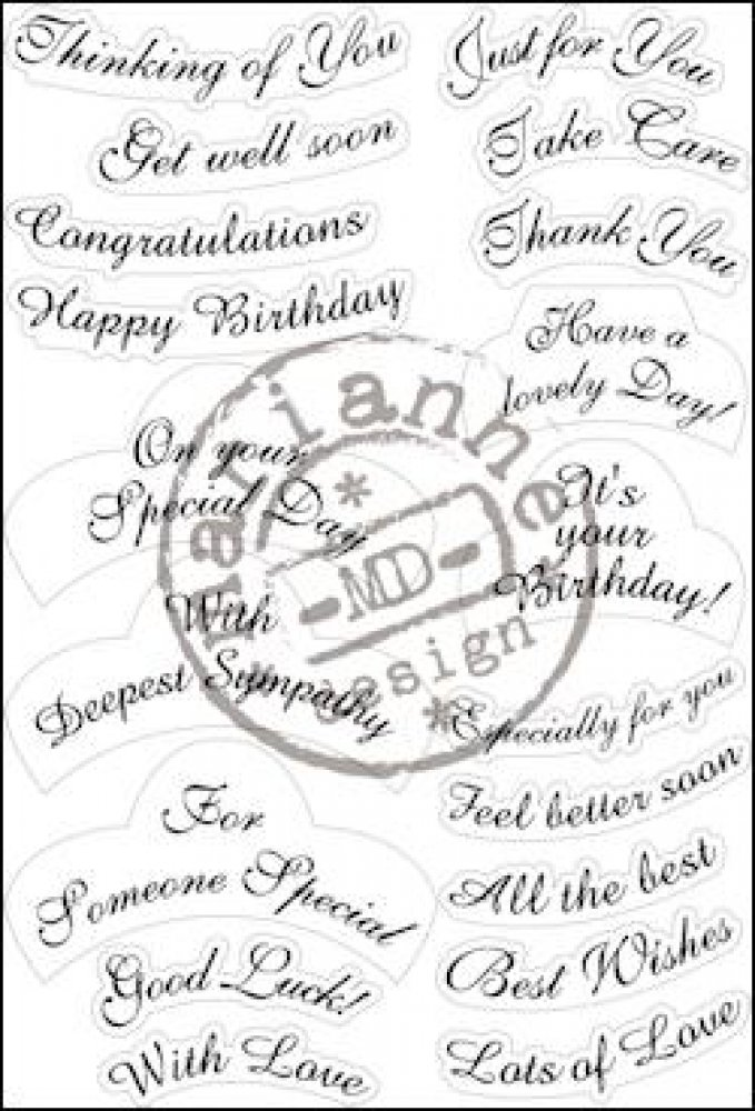 Marianne Design- Clear stamp- Best Wishes: CS0916