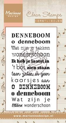 Marianne Design- Clearstamp- Kerstlied Oh denneboom: CS0945