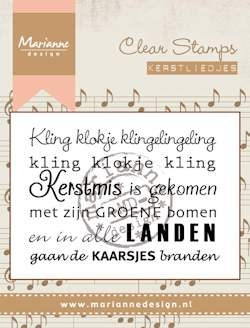 Marianne Design- Clearstamp- Kerstlied Kling klokje: CS0946
