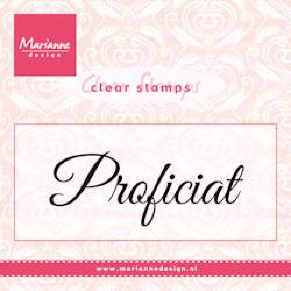 Marianne Design- Clear stamp- Proficiat: CS0957