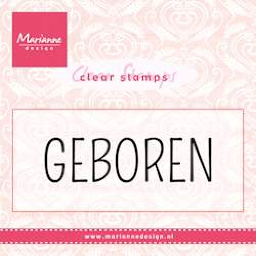 Marianne Design- Clear stamp- Geboren: CS0959