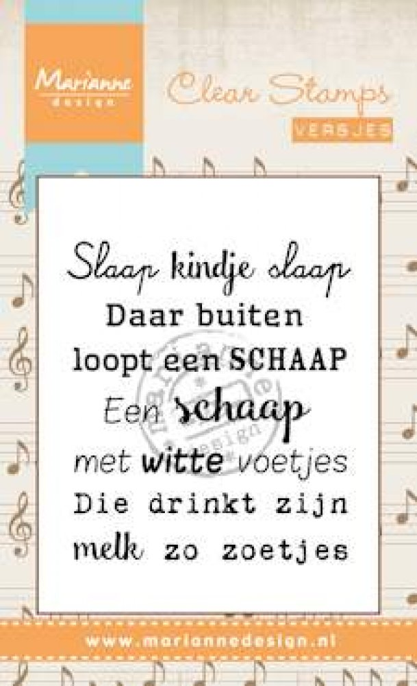 Marianne Design- Clear Stamp- Liedje, Slaap kindje slaap: CS0961