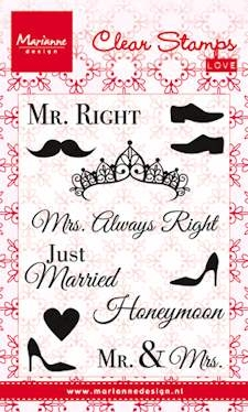 Marianne Design- Clearstamp- Mr & Mrs: CS0973