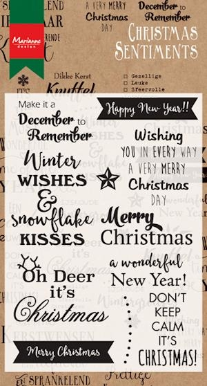 Marianne Design- Clear stempel- Christmas sentiments; CS0980