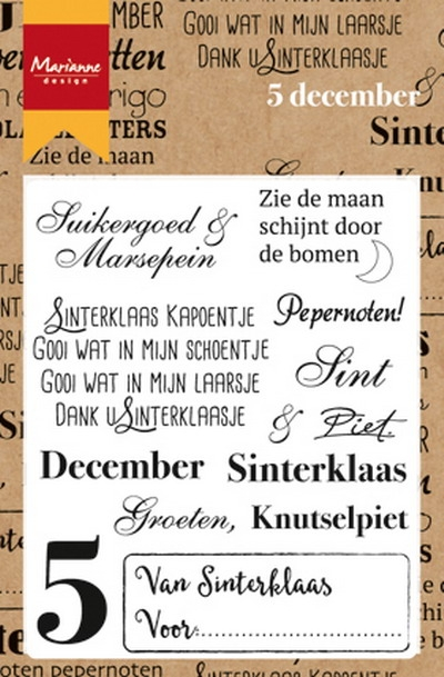 Marianne Design- Clearstamp- Vijf December: CS0982
