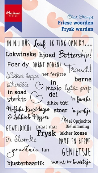 Marianne Design- Clearstempel- Friese woorden: CS0983