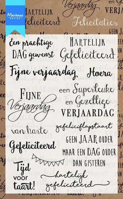 Marianne Design- Clearstempel- Felicitaties: CS0987