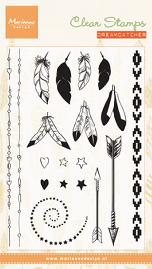Marianne Design- Clearstempel- Feathers: CS0990