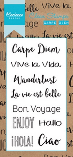 Marianne Design- Clear stempel- Carpe Diem: CS0994