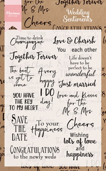 Marianne Design- Clear stempel- Wedding Sentiments UK: CS0999