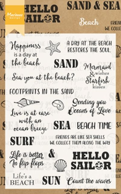 Marianne Design- Clearstempel- Beach Sentiments: CS1007